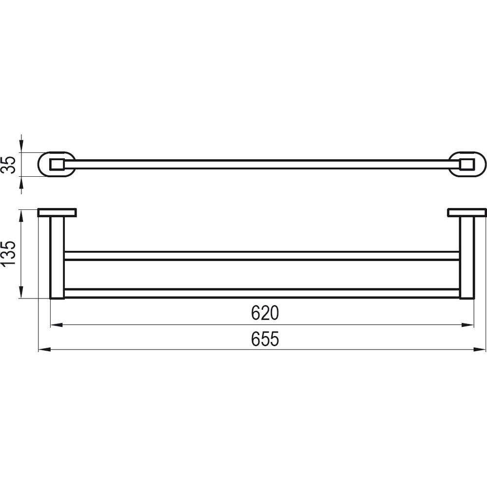 Полотенцедержатель (2 полотенца), 66 см CR 320.00, X07P193