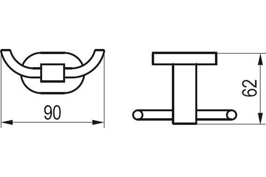 Крючок двойной CR 100.00, X07P186