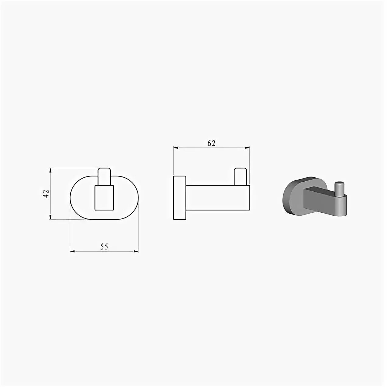 Крючок одинарный CR 110.00, X07P320