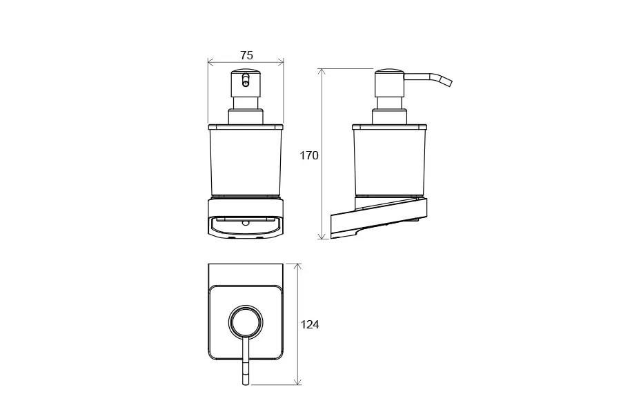 Дозатор для жидкого мыла  (стекло) TD 231, X07P323