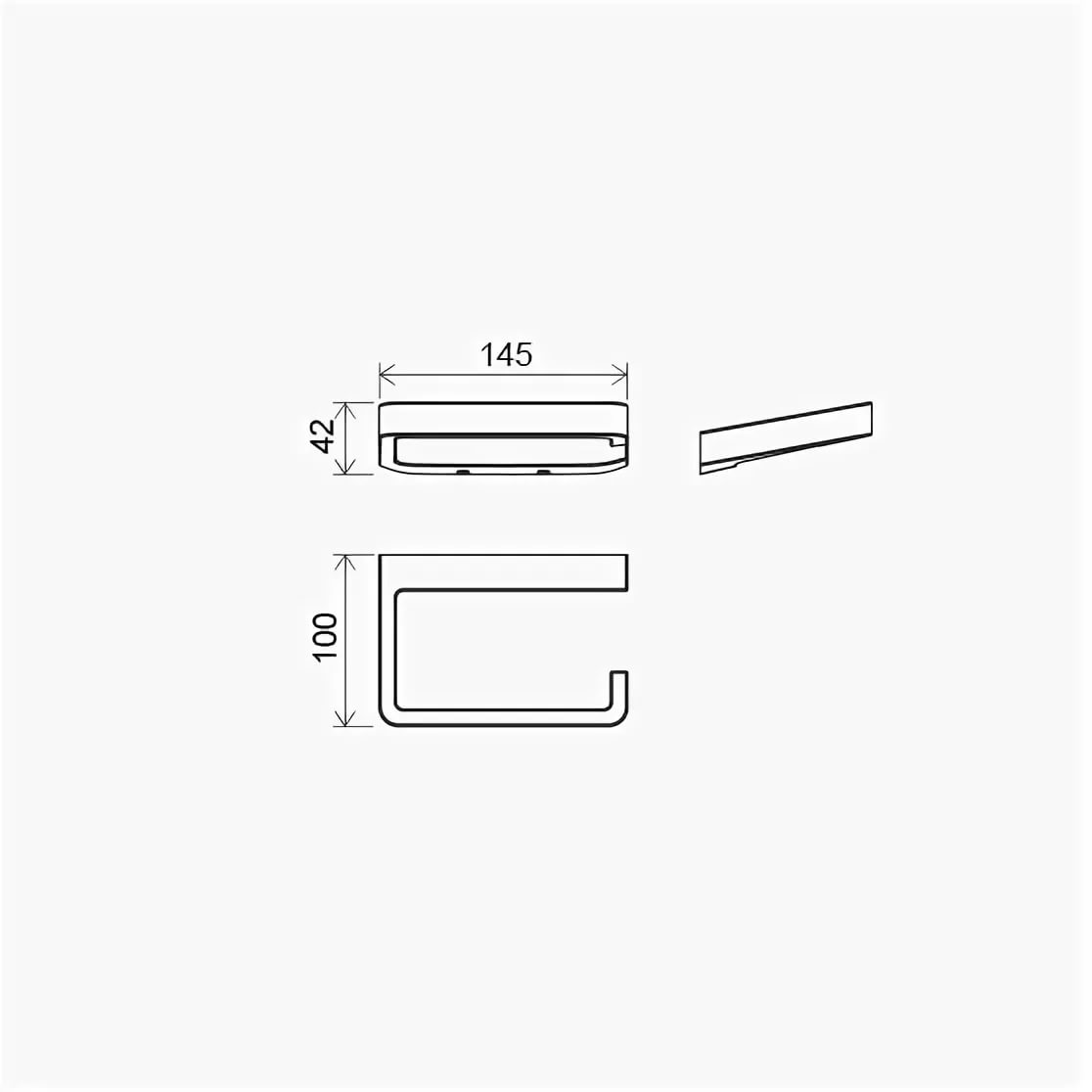 Держатель для туалетной бумаги TD 400.00, X07P329