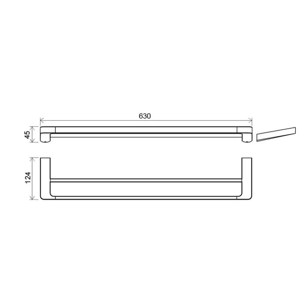 Полотенцедержатель (2 полотенца), 66 см TD 320.00, X07P326