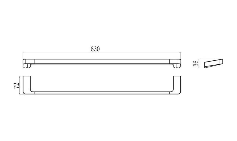 Полотенцедержатель (1 полотенце), 66 см TD 310.00, X07P325
