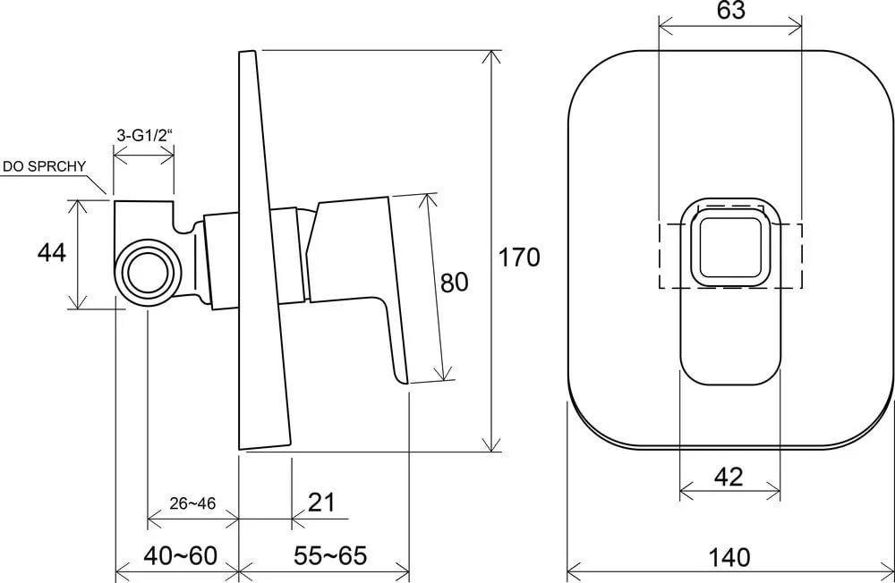 Смеситель встроенный без переключателя TD 062.00, X070069