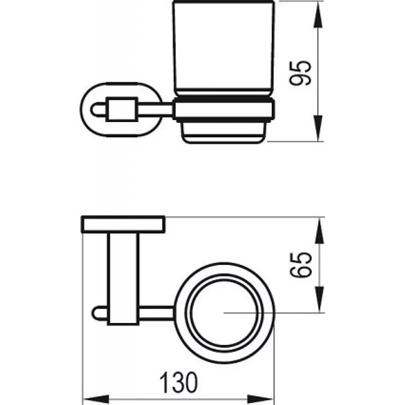Держатель со стаканом (стекло) CR 210.00, X07P188