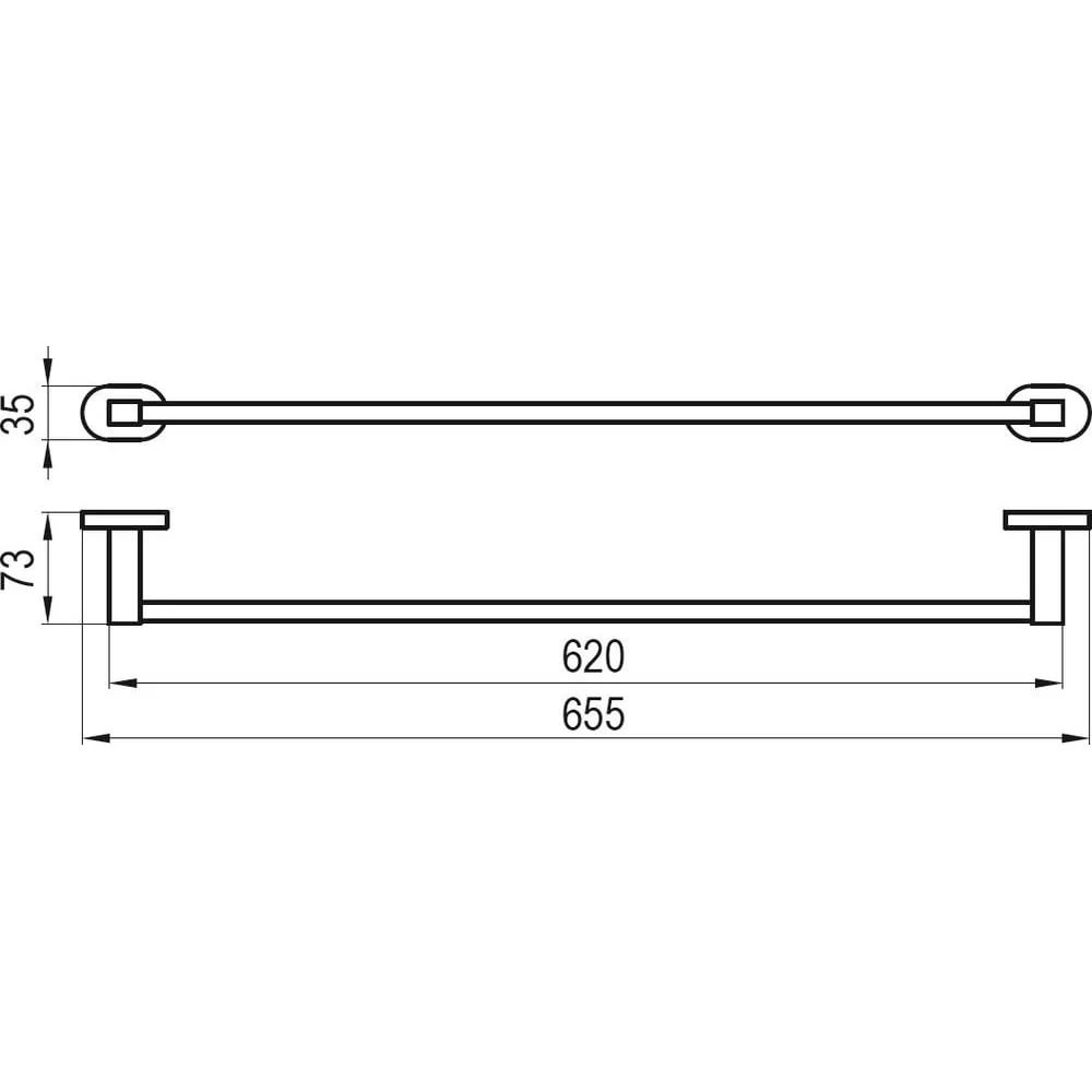 Полотенцедержатель (1 полотенце), 66 см CR 310.00, X07P192