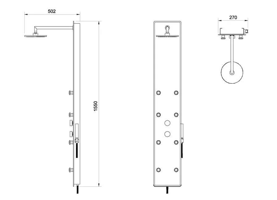Гидpомассажная панель Totem JET GLASS, X01452