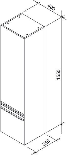 Шкаф боковой Ravak  SB 400 R Clear белая/вишня, X000000764