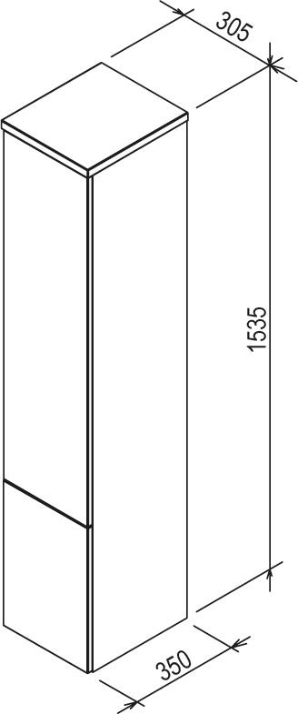 Шкаф боковой Ravak  SB 350 ROSA II белый, X000000927