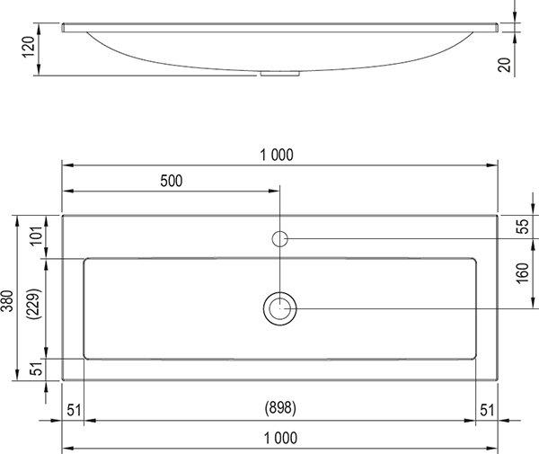 УмывальникRavak  Clear 1000, XJJ01110000