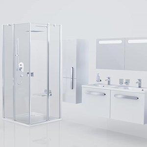 Шторка для ванны Ravak Chrome CVS2-100 L, 1000 мм, цвет профиля - блестящий, витраж - прозрачный, 7QLA0C00Z1