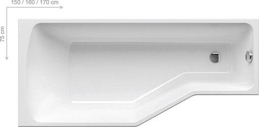 Шторка для ванны Ravak Supernova VS3 100, 1000 мм, цвет профиля - сатин, витраж - эффект дождя, 795P0U0041