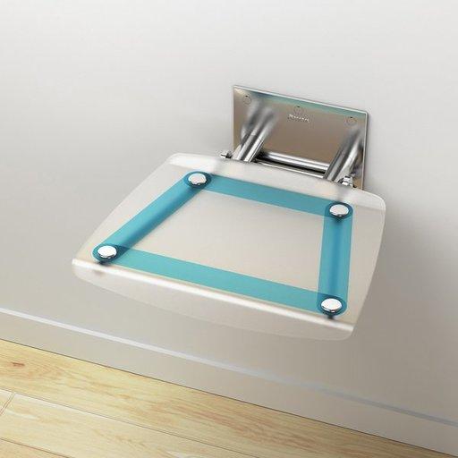 Унивеpсальное сиденье для душа Ravak OVO-B-BLUELINE, цвет белый + синий, B8F0000031