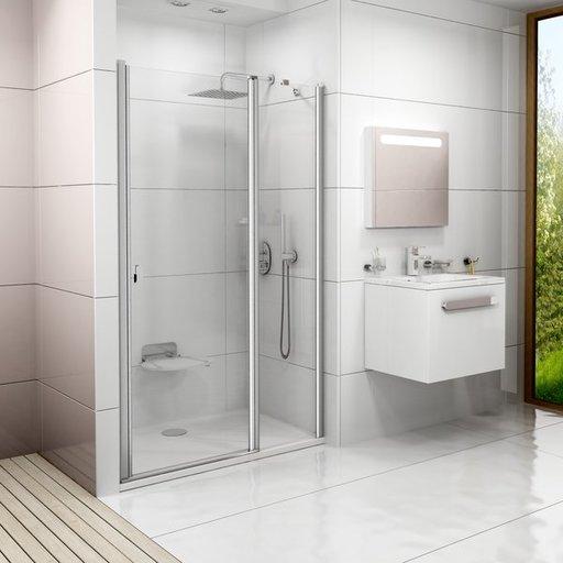 Душевая дверь Ravak Chrome CSD2-120, 1200 мм, цвет профиля - сатин, витраж - прозрачный, 0QVGCU00Z1