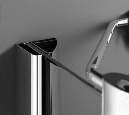 Душевая дверь Ravak Smartline SMSD2-110, тип В, левая, 1100 мм, цвет профиля - хром, витраж - прозрачный, 0SLDBA00Z1