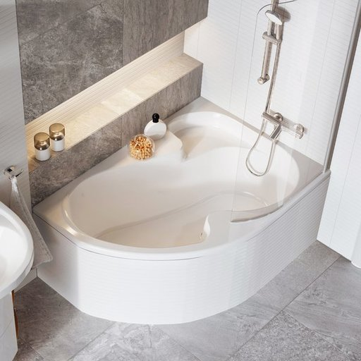 Шторка для ванны Ravak Chrome CVSK1 ROSA 160/170, правая, 1000 мм, цвет профиля - сатин, витраж - прозрачный, 7QRS0U00Y1