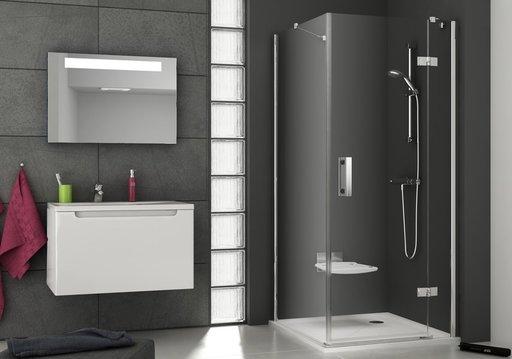 Душевая дверь Ravak Smartline SMSD2-120, тип В, правая, 1200 мм, цвет профиля - хром, витраж - прозрачный, 0SPGBA00Z1