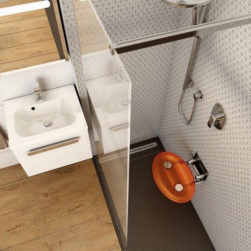 Унивеpсальное сиденье для душа Ravak OVO-P ORANGE, цвет оранжевый, B8F0000005