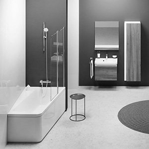 Шторка для ванны Ravak 10° 10CVS2-100 R, 1000 мм, цвет профиля - сатин, витраж - прозрачный, 7QRA0U03Z1