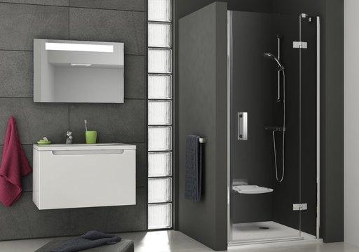 Душевая дверь Ravak Smartline SMSD2-100, тип А, правая,1000 мм, цвет профиля - хром, витраж - прозрачный, 0SPAAA00Z1