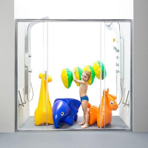 Душевая дверь Ravak Blix BLDP4-150, 1500 мм, цвет профиля - сатин, витраж - прозрачный, 0YVP0U00Z1