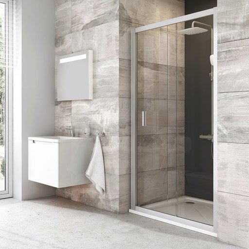 Душевая дверь Ravak Blix BLDP2-100, 1000 мм, цвет профиля - блестящий, витраж - прозрачный, 0PVA0C00Z1