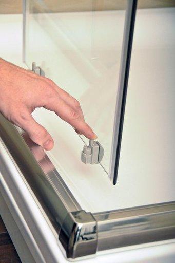 Душевая дверь Ravak Blix BLDP4-160, 1600 мм, цвет профиля - белый лак, витраж - grape (матовое с эффектом шагрени), 0YVS0100ZG