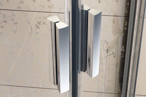 Душевая дверь Ravak Blix BLDP4-130, 1300 мм, цвет профиля - белый лак, витраж - grape (матовое с эффектом шагрени), 0YVJ0100ZG