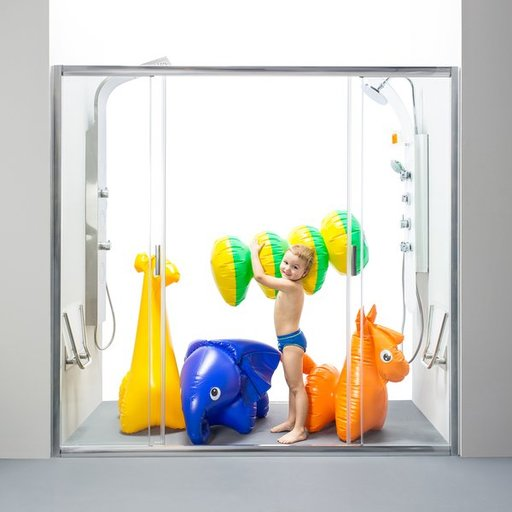 Душевая дверь Ravak Blix BLDP4-140, 1400 мм, цвет профиля - сатин, витраж - прозрачный, 0YVM0U00Z1