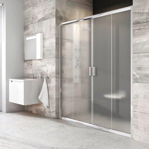 Душевая дверь Ravak Blix BLDP4-150, 1500 мм, цвет профиля - блестящий, витраж - прозрачный, 0YVP0C00Z1