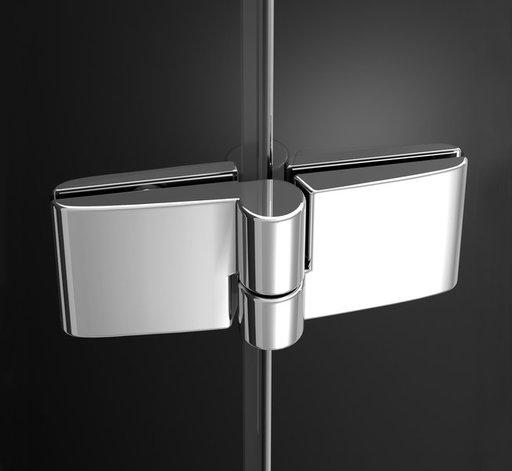 Душевая стенка для уголка Ravak Smartline SMPS-80, левая, цвет профиля - хром, витраж - прозрачный, 9SL40A00Z1