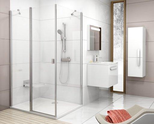 Душевая дверь Ravak Chrome CRV2-100, 1000 мм, цвет профиля - белый лак, витраж - прозрачный, 1QVA0100Z1