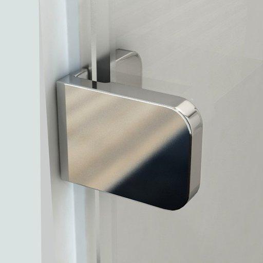 Душевой уголок Ravak Brilliant BSDPS-100/100, 1000х1000 мм, левый, цвет профиля - хром, витраж - прозрачный, 0ULA0A00Z1
