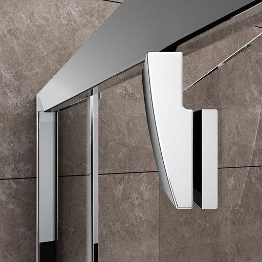 Душевая стенка для уголка Ravak Pivot PPS-80, цвет профиля - сатин, витраж - прозрачный, 90G40U00Z1