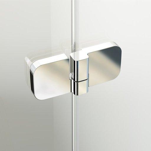 Душевой уголок Ravak Brilliant BSDPS-100/100, 1000х1000 мм, правый, цвет профиля - хром, витраж - прозрачный, 0UPA0A00Z1