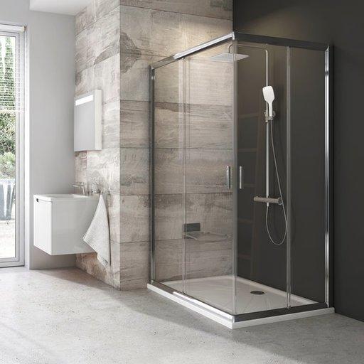 Душевая дверь Ravak Blix BLRV2K-110, 1100 мм, цвет профиля - сатин, витраж - прозрачный, 1XVD0U00Z1
