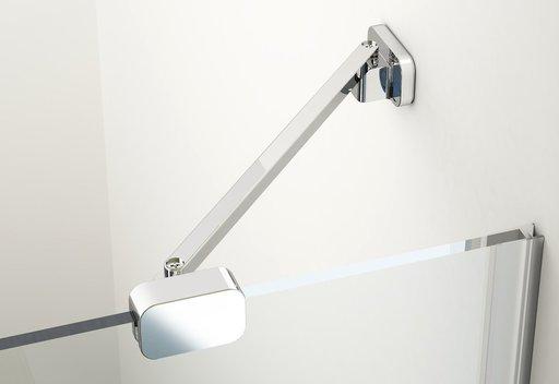 Душевой уголок Ravak Brilliant BSDPS-110/80, 1100х800 мм, правый, цвет профиля - хром, витраж - прозрачный, 0UPD4A00Z1