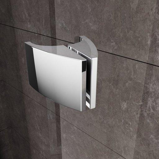 Душевая стенка для уголка Ravak Pivot PPS-80, цвет профиля - белый лак, витраж - прозрачный, 90G40100Z1