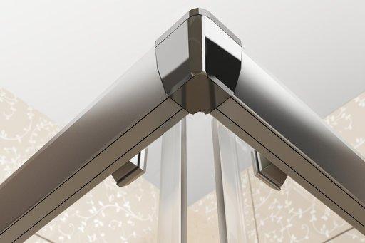 Душевая дверь Ravak Blix BLRV2K-90 , 900 мм, цвет профиля - блестящий, витраж - grape (матовое с эффектом шагрени), 1XV70C00ZG