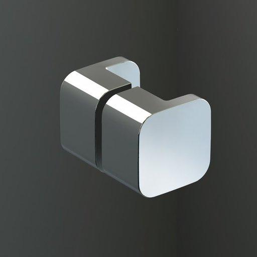 Душевой уголок Ravak Brilliant BSDPS-80/80, 800х800 мм, правый, цвет профиля - хром, витраж - прозрачный, 0UP44A00Z1