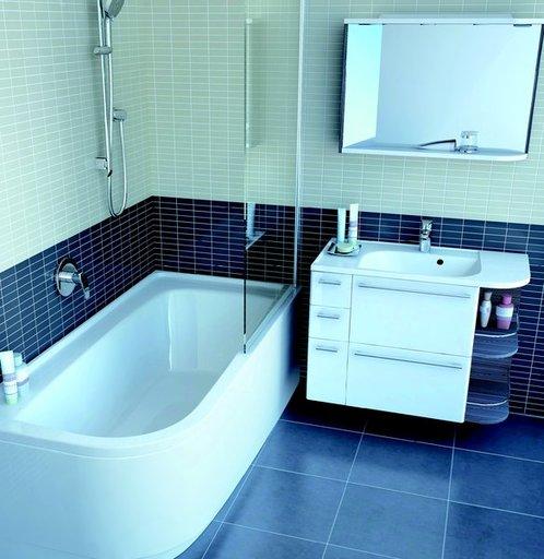 Зеркало Ravak Rosa, 960х680 мм, цвет - оникс + белый, правое, X000000325