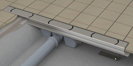 Душевой канал OZ RAVAK Chrome 850 - stainless, X01427