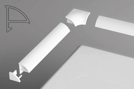Универсальная декоративная планка 6/2000 белая 2000 мм, XB442000001