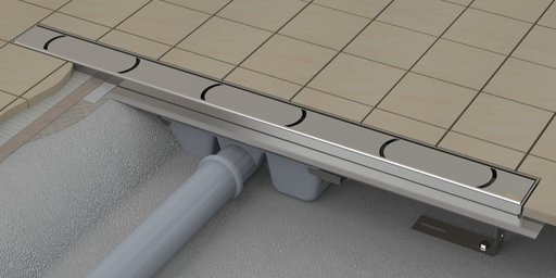 Душевой канал OZ RAVAK Chrome 1050 - stainless, X01429