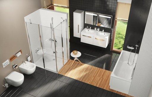 Шкаф боковой Ravak  SB 350 Chrome R белый/белый, X000000543