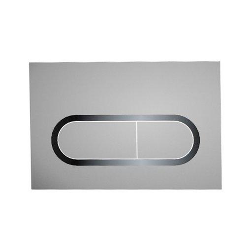 Кнопка инсталяционная Chrome белая, X01455