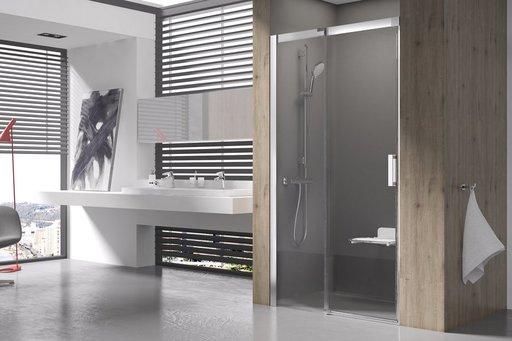 Душевая дверь Ravak MATRIX MSD2-100, левая, 1000 мм, цвет профиля - блестящий, витраж - прозрачный, 0WLA0C00Z1