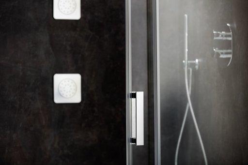 Душевой уголок Ravak MATRIX MSDPS-100/100, 1000х1000 мм, правый, цвет профиля - белый лак, витраж - прозрачный, 0WPAA100Z1