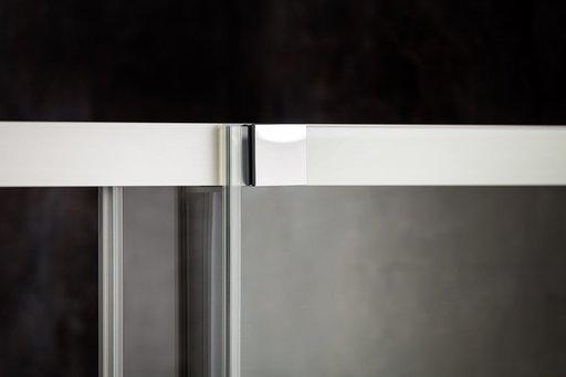 Душевой уголок Ravak MATRIX MSDPS-100/80 , 1000х800 мм, правый, цвет профиля - блестящий, витраж - прозрачный, 0WPA4C00Z1