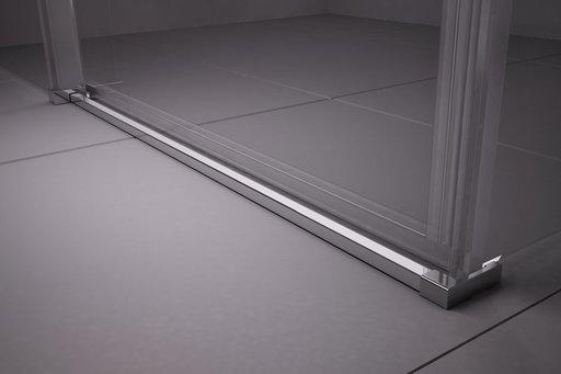 Душевой уголок Ravak MATRIX MSRV4-100/100, 1000х1000 мм, цвет профиля - сатин, витраж - прозрачный, 1WVAAU00Z1